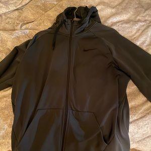 Nike Dark Grey zip up hoodie size XL